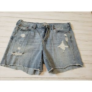 Madewell Denim Jean Shorts Button Fly Cutoffs